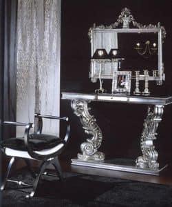 703 CONSOLE, Konsole mit Marquinia Marmorplatte, Luxus classic