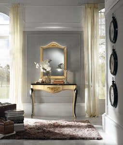 klassische intarsien konsole und spiegel idfdesign. Black Bedroom Furniture Sets. Home Design Ideas