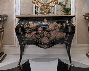 ART. 3011, Trumeau mit handgemalten Dekorationen
