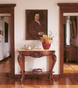 Art. 860, Klassische Konsolen in Holz mit Intarsien von Hand, für Eingänge