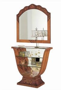 C606 Millennium, Intarsien-Konsole, klassischen Luxus, Spiegel zurück