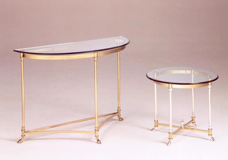 console in antiker messing aus geh rtetem glasplatte. Black Bedroom Furniture Sets. Home Design Ideas