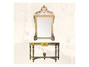 Console art. 203, Consolle mit Gold Veredelungen, im Stil Louis XVI