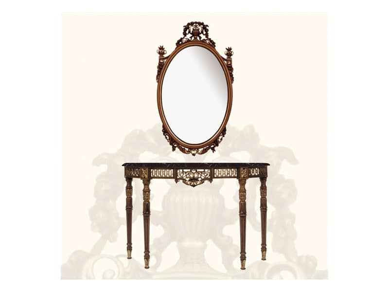 louis xvi stil consolle in holz und schwarzem marmor idfdesign. Black Bedroom Furniture Sets. Home Design Ideas