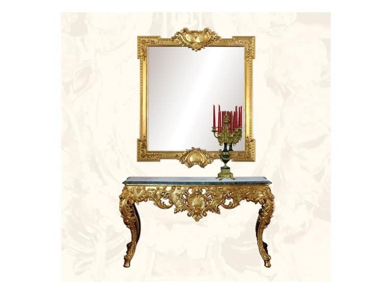 Console art. 251, Consolle aus dekoriert Holz, russischen Stil