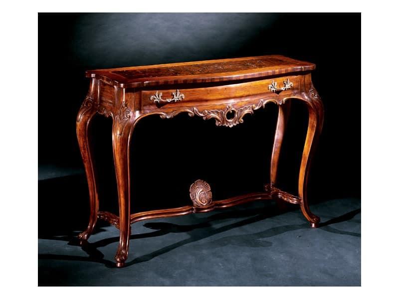 Console console 714, Luxury klassischen Konsolen in Holz geschnitzt