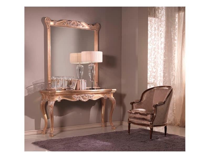Consolle + Spiegel, Consolle und Spiegel, venezianischen Stil
