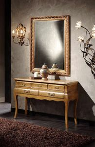 Doroty Konsole, Konsolentisch aus Holz mit Schubladen
