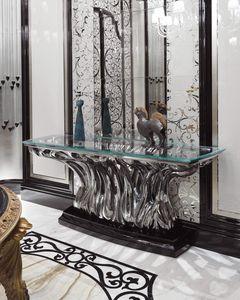 FICUS Consolle, Luxus-Glas-Konsolentisch