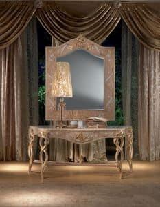 MB44 Vanity, Console in Holz, Blattgold Dekorationen, klassischen Stil