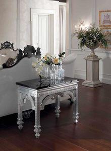 Opale console, Konsole mit schwarzer Marmorplatte