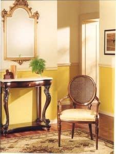 3025 STUHL, Sessel aus Holz mit gepolstertem Sitz, klassischen Stil gemacht