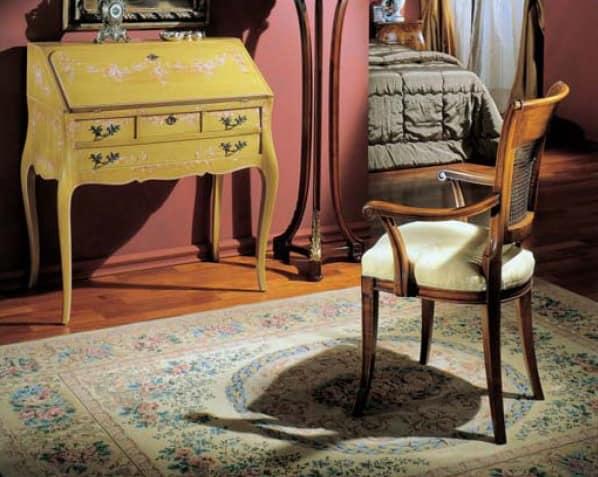 3255 ARMCHAIR, Luxus klassischer Sessel mit Rohr zurück