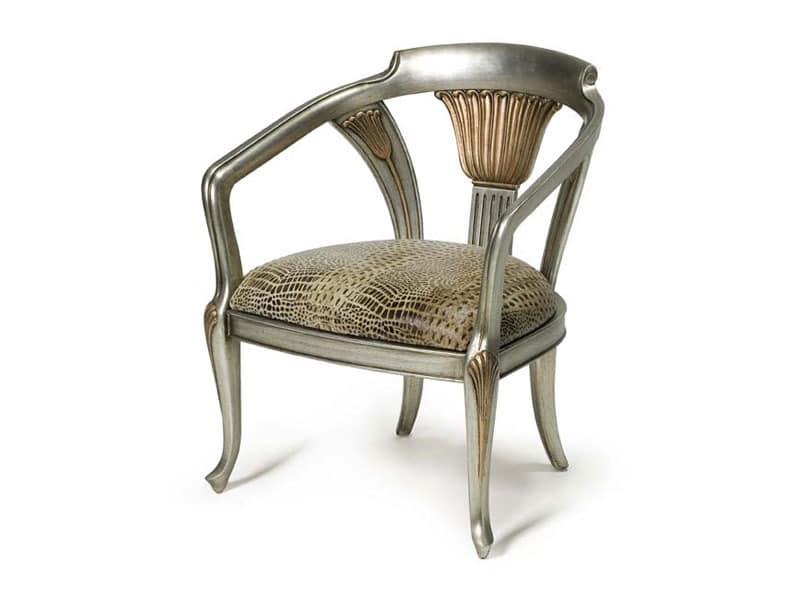 Art.122 armchair, Klassischen Stil Sessel, mit elastischen Bändern gepolstert