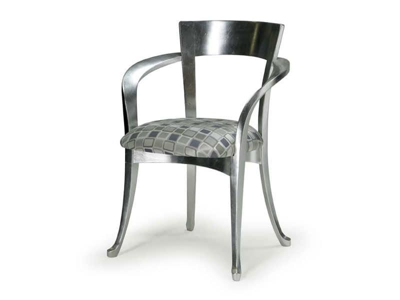 Art.446 armchair, Klassischen Stil Stuhl mit Armlehnen aus Holz
