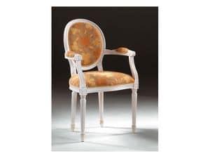 Art. 514/P, Stuhl mit Armlehnen, in luxuriösen Stil, gepolsterte Armlehnen