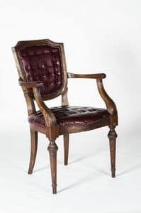 Art. 599/B, Luxus-Sessel aus Kalbsleder, klassischer Stil
