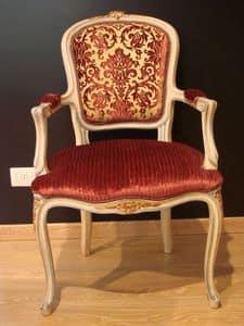 Art. 832, Klassischer Sessel für zu Hause, antike lackiertem Holz