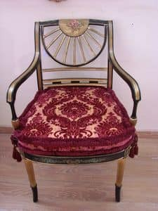 Art. 880, Klassischer Sessel für Häuser, verziert Holz