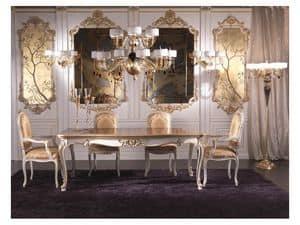 Art.937, Kopf des Tisches Stuhl klassischen Luxus, mit Seide überzogen