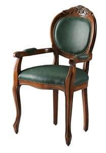 Bibbona ME.0987, Kopf des Tisches Stuhl aus Buchenholz, runden Rücken
