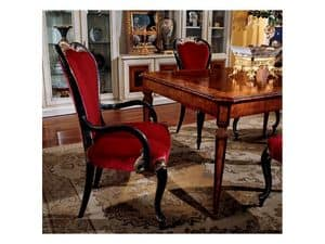 Display armchair 850 P, Esszimmerstuhl mit Armlehnen
