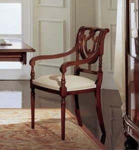 Gardenia Stuhl Kopf des Tisches, Stuhl Kopf des Tisches in Nussbaum, mit Rücken perforiert