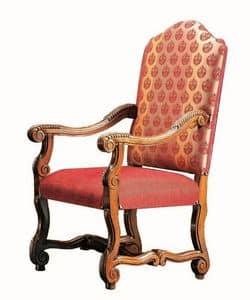 Matisse RA.0990, Kopf des Tisches Stuhl in Nussbaum, geschnitzt, für die Gaststätten