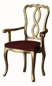 Pisanello RA.0988, Kopf des Tisches Stuhl in Nussbaum, für Hotels und Restaurants