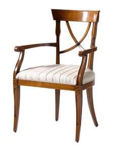 Saint Florent VS.1236, Kirsch Sessel, gepolsterten Sitz, in verschiedenen Stoffen abgedeckt, für die Gaststätten im klassischen Stil
