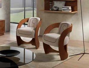 SE53 Mistral, Sessel in Nussbaum Canaletto, für Klassiker Wohnzimmer