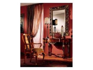 Venezia armchair 816, Klassische gepolsterter Stuhl mit Armlehnen