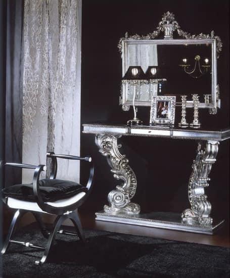 703 BENCH, Gepolsterte Bank mit Silber trimmen, klassischen Luxus-Stil
