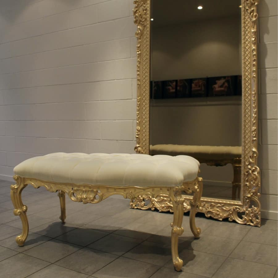 Conchiglia, Bench für Schlafzimmer, im Barockstil