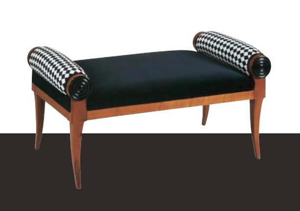 klassische bank gepolsterte sitzbank holzbank schlafzimmer idfdesign. Black Bedroom Furniture Sets. Home Design Ideas