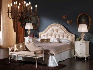 3515 BETT, Mit gepolstertem Kopfteil ideal für klassische Schlafzimmer Bett