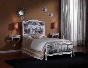 3615 EINZELBETT, Klassisches Einzelbett für Schlafzimmer geeignet