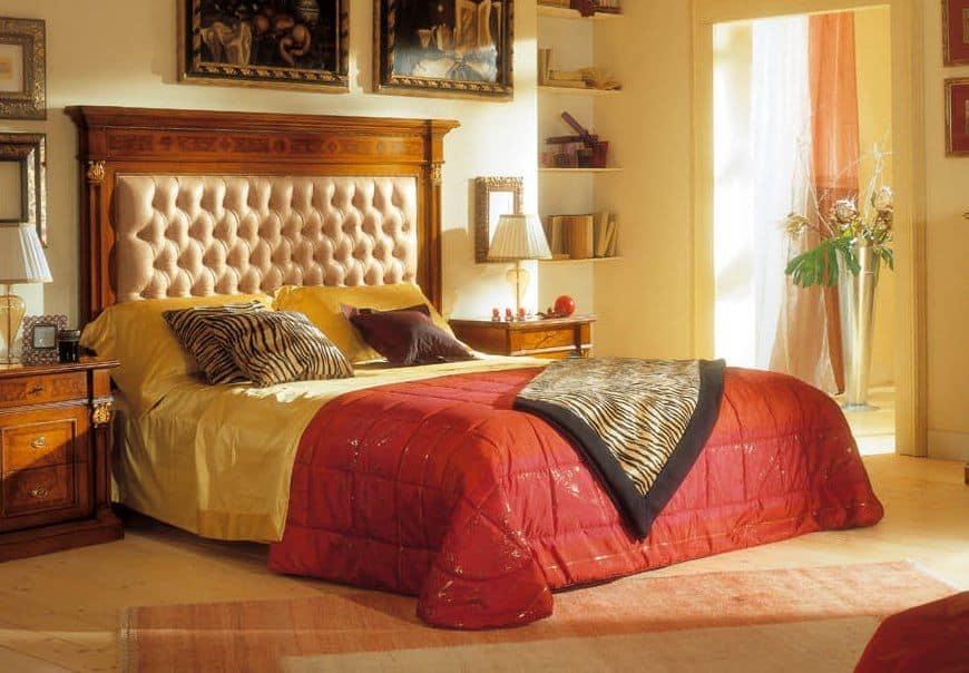 doppelbett polsterkopfteil getuftet f r klassische schlafzimmer idfdesign. Black Bedroom Furniture Sets. Home Design Ideas
