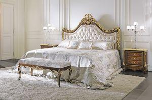 ART. 2349, Klassisches Bett in handgeschnitztem Holz