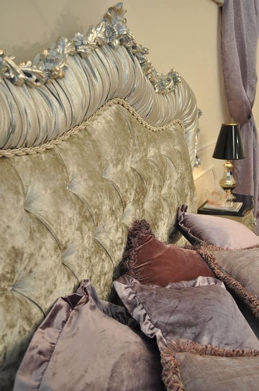 Art. 2400 Valentina, Betten in handgeschnitzte Holz, gepolstert getuftet