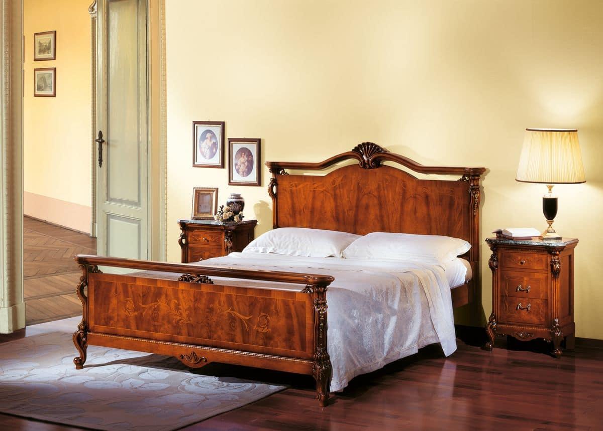 doppelbett in der walnuss in der klassischen luxus stil idfdesign. Black Bedroom Furniture Sets. Home Design Ideas