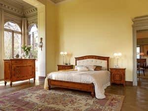 art 402 bett doppelbett mit kopfteil aus leder gesteppte - Doppelbett Luxus