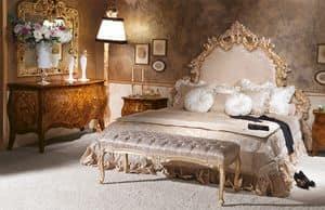 Art. 590, Klassischen Stil Bett, Geschnitzt, Hand geschmückter