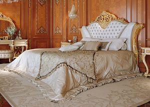Art. 810, Luxuriöses Bett mit Kopfteil capitonnè