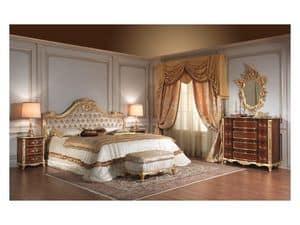 Art 931 Bed, Bed handgemacht, geschnitzt, für die Luxus-Zimmer