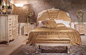 Art. 950, Klassisches Bett mit gepolstertem Kopfteil für Hotel