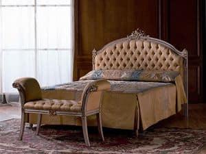 Canaletto, Gesteppt Doppelbett aus Holz, für Schlafzimmer