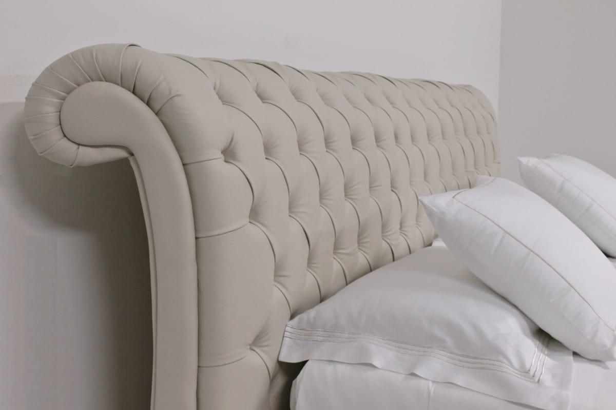 Englisch -Stil Doppelbett, capitonnè Kopfteil, für Schlafzimmer ...