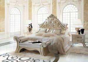 Dream C/491/W, Luxury klassische Bett, Polsterkopfteil getuftet