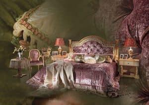 Esmeralda, Mit handgeschnitzten Kopfteil Bett , Luxus-Schlafzimmer